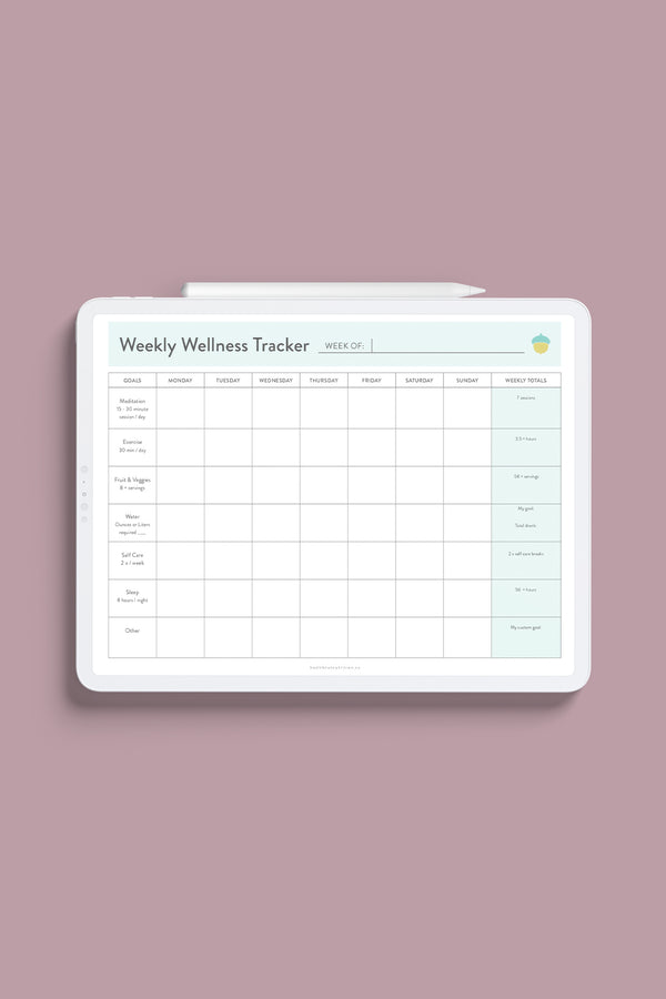 Wellness Tracker & Gratitude Journal