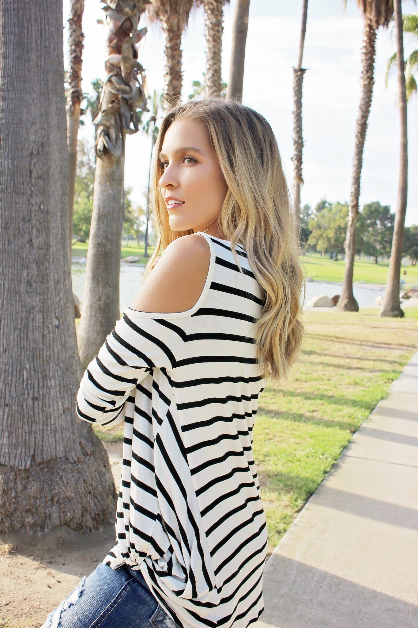 Cassidy Cold Shoulder Top