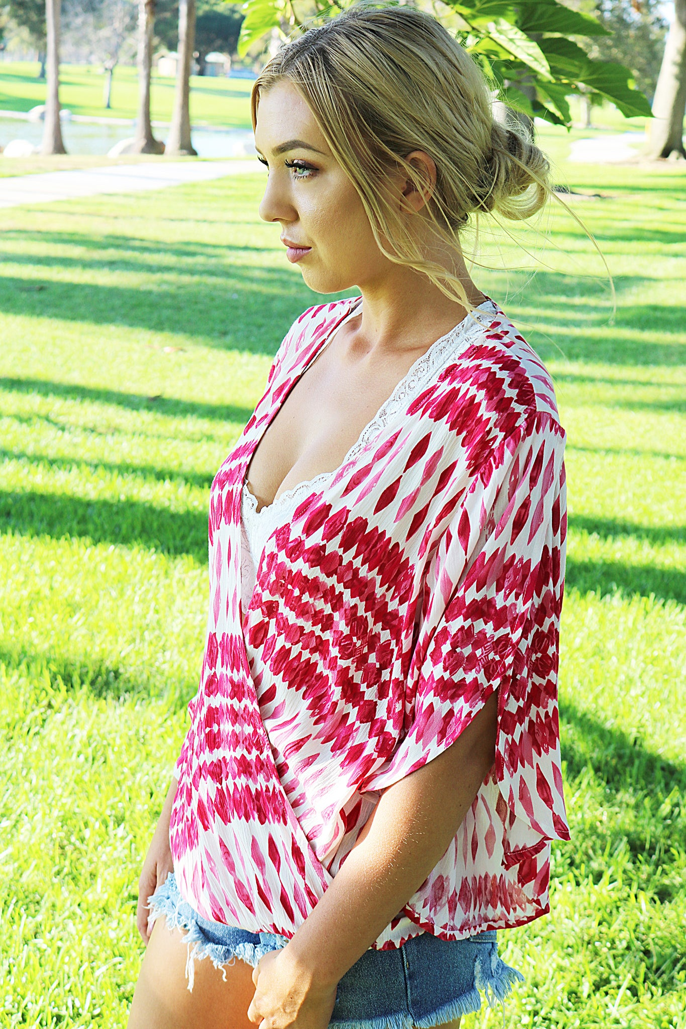 Flamingo Wrap Top