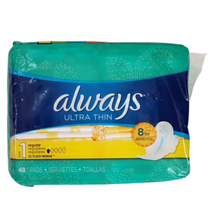 Always Ultra Thin Size 1 Regular Pads 48ct