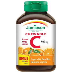 Jamieson Orange Chewable Vitamin C 500mg