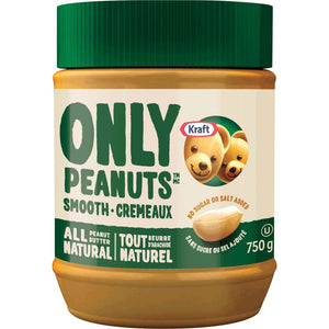 Kraft Only Peanuts Smooth All Natural Peanut Butter 750g