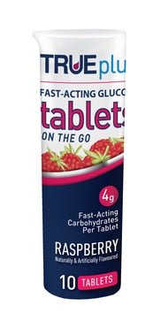 True Plus Raspberry Glucose Tablets 10ct