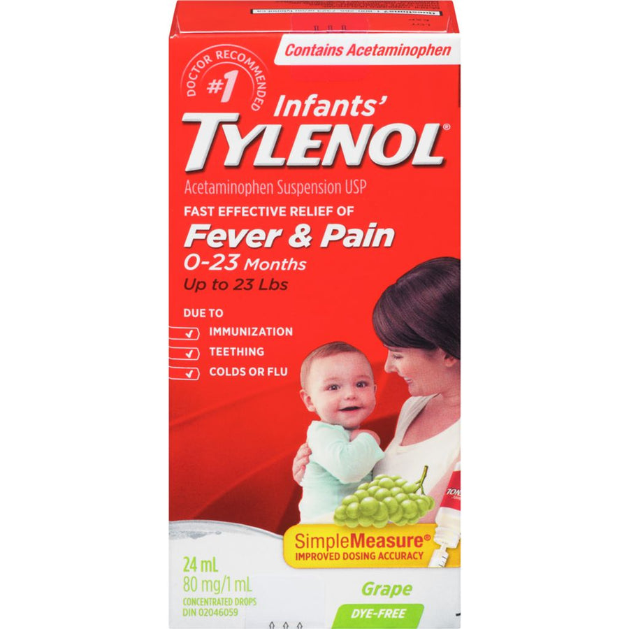 Tylenol Grape Age 0-23 Months Infant's Oral Suspension 24ml