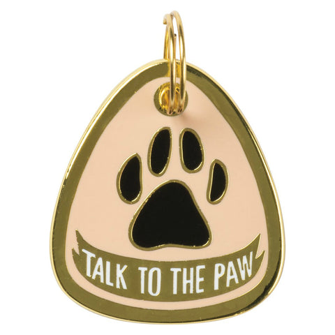 Pet Collar Charm- Talk To The Paw