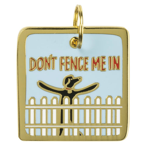 Pet Collar Charm- Don't Fence Me In