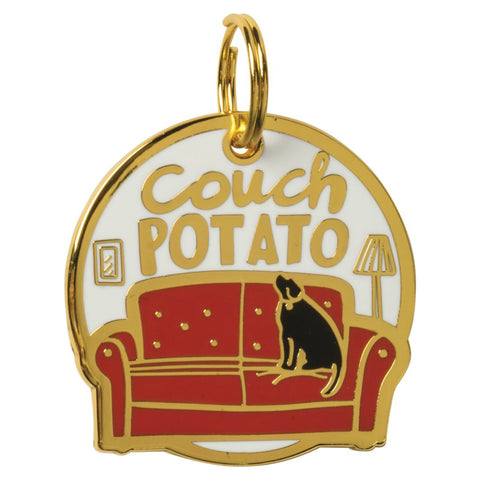 Pet Collar Charm- Couch Potato