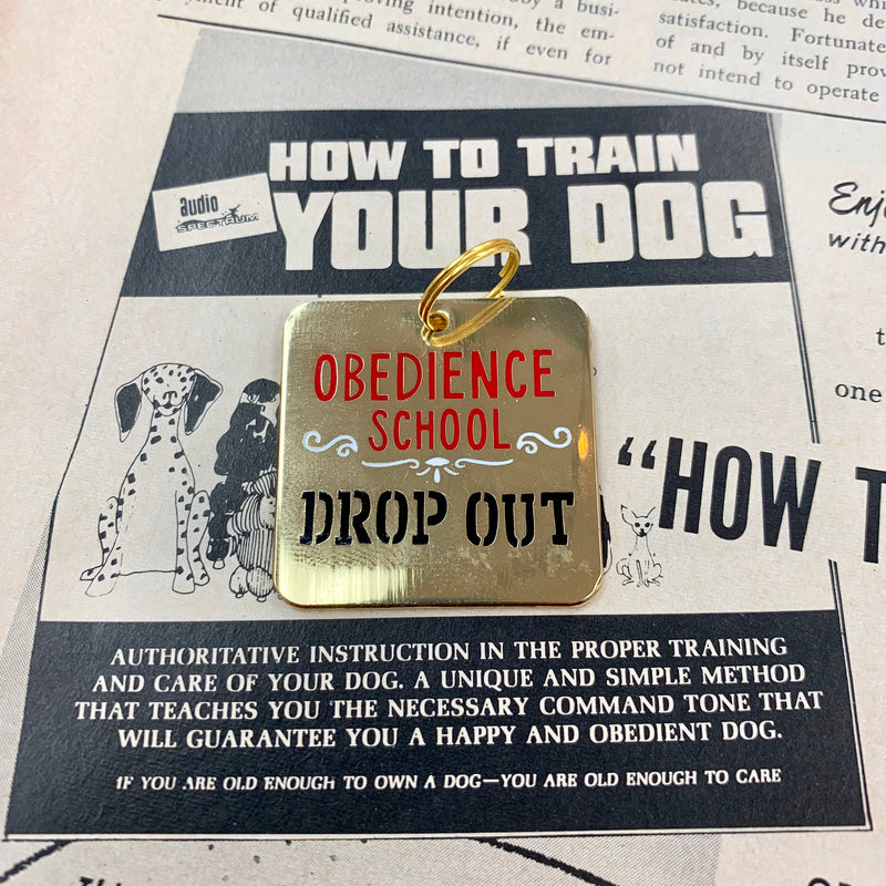 Obedience School Dropout Pet Charm