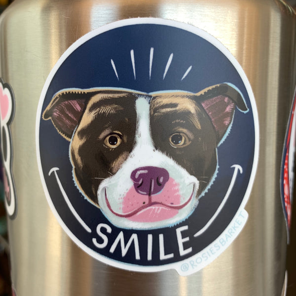 Smile Pittie Sticker