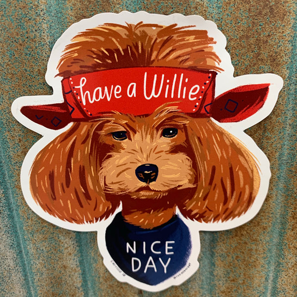 Willie Nice Day Car Magnet