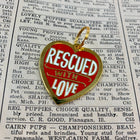Pet Collar Charm- Rescued With Love