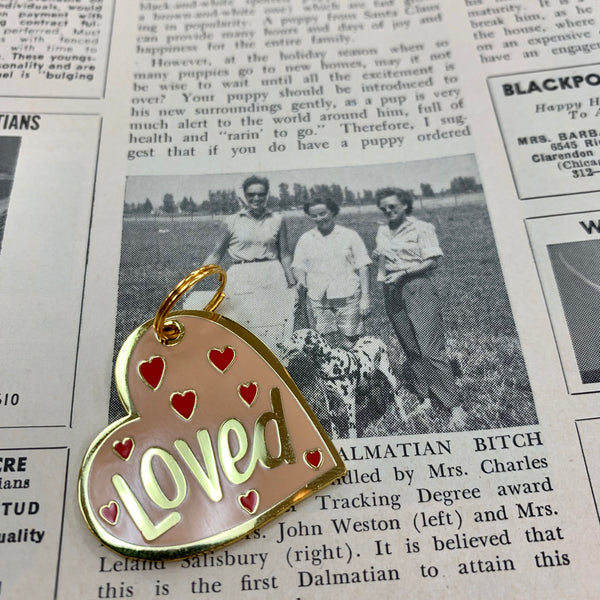 Pet Collar Charm- Loved