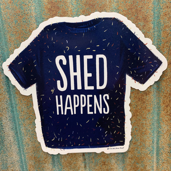 Shed Happens Car Magnet