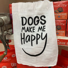 Dogs Make Me Happy Tea Towel
