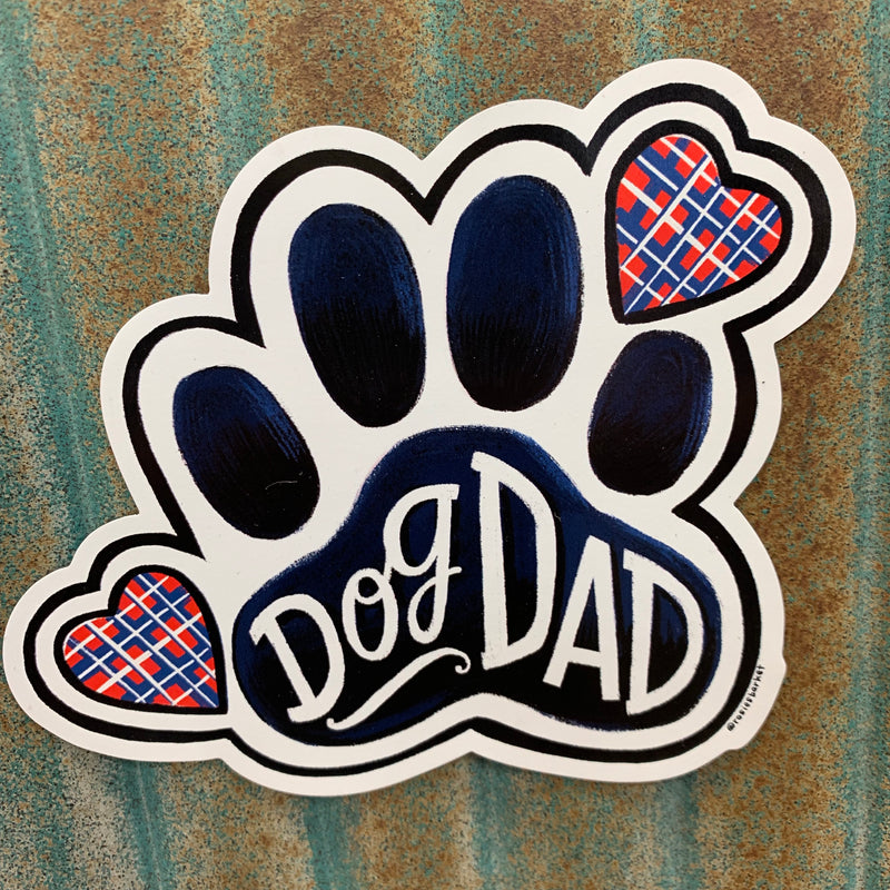 Dog Dad Car Magnet
