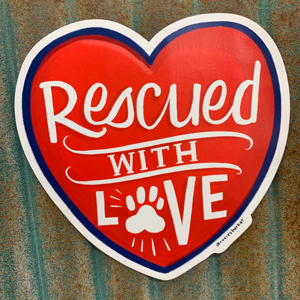 Rescued With Love Car Magnet