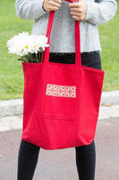 Darzah Red Fabric Market Tote Bag