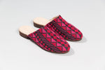 Darzah Magenta and Rose Tatreez Mule