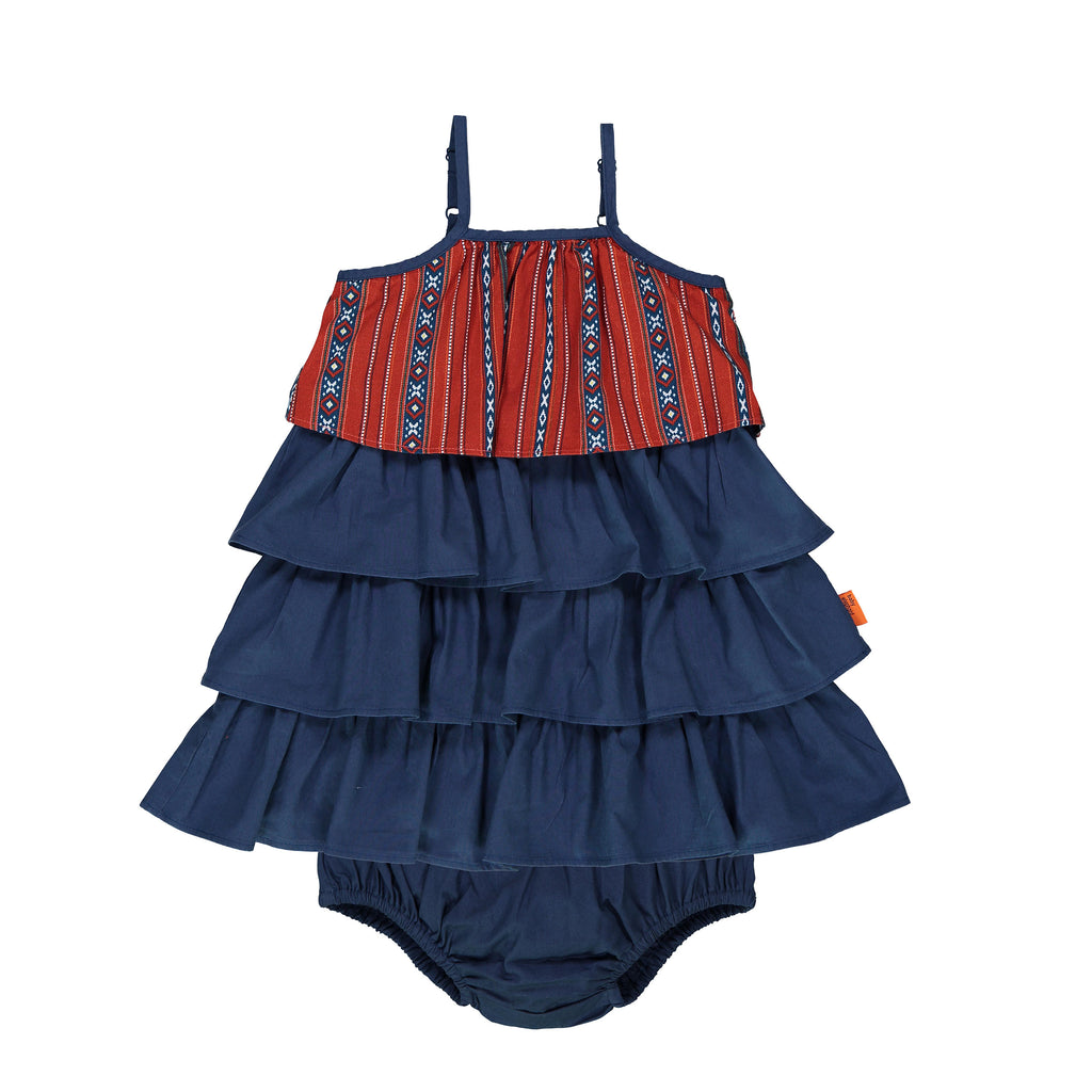 Ruffle dress with matching bloomers