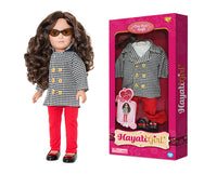 Chic Red Outfit for Hayati Girl Doll