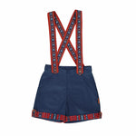 Blue shorts with Sadu straps