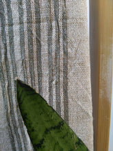 Mira Green linen/ Cotton Handwoven Towel