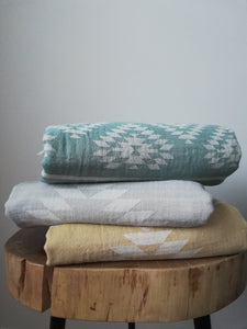 Aztec Double Sided  Towel -4 colors