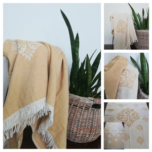 Barok Double Sided Throw Blanket Full size (4 colors) - Artisan Village Design