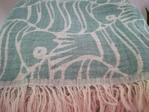 Fun  Fish Double sided Towel  3 colors