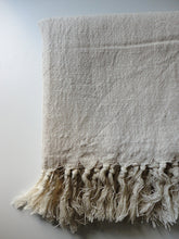 Artisan Cotton/linen Authentic Handwoven Towel  - Natural