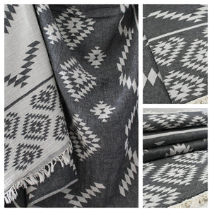 Kilim Aztec  Reversible Throw - Artisan Village Design