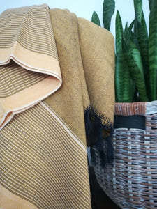 Kas Mustard Yellow Handwoven Throw Blanket / 2 colors - Artisan Village Design