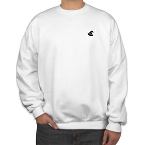 CREW NECK SWEATER - WHITE