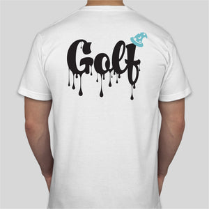 GOLF DRIP T-SHIRT - WHITE