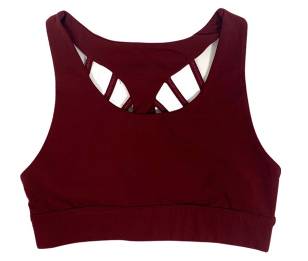 Empower Sports Bra - Maroon (Size Up)