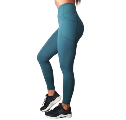 Empower Leggings - Blue Teal