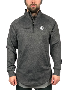 Elevate 1/4 Zip Pullover - Dark Heather Grey