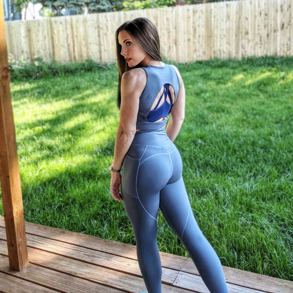 Heart And Soul Leggings - Slate Blue