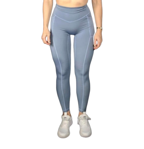 Heart And Soul Leggings - Slate Blue (SIZE UP)
