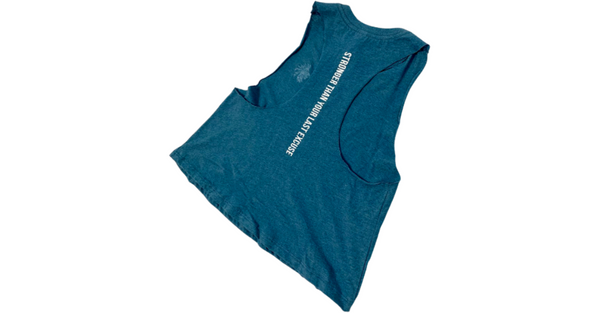 Basic Comfort Racerback Crop - Heathered Teal