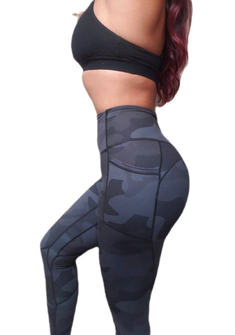 Empower Leggings - Black Camo