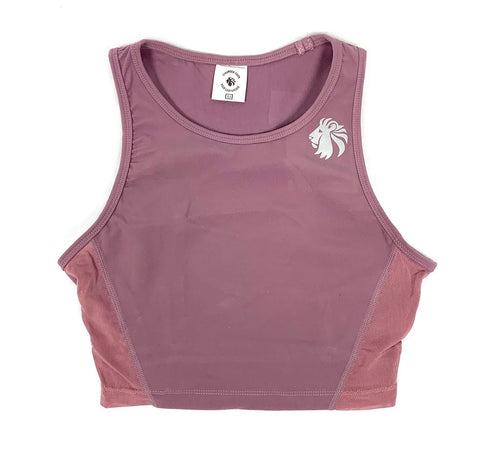 Heart And Soul Crop Tank - Dusty Rose