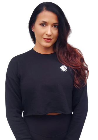 Basic Comfort Crop Sweatshirt - Black