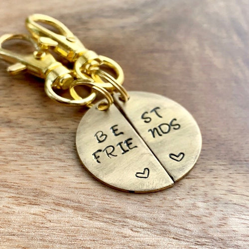 Best Friends Brass Tags (pair)