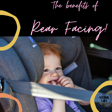 Why is Rear facing safer when travelling in car seats?