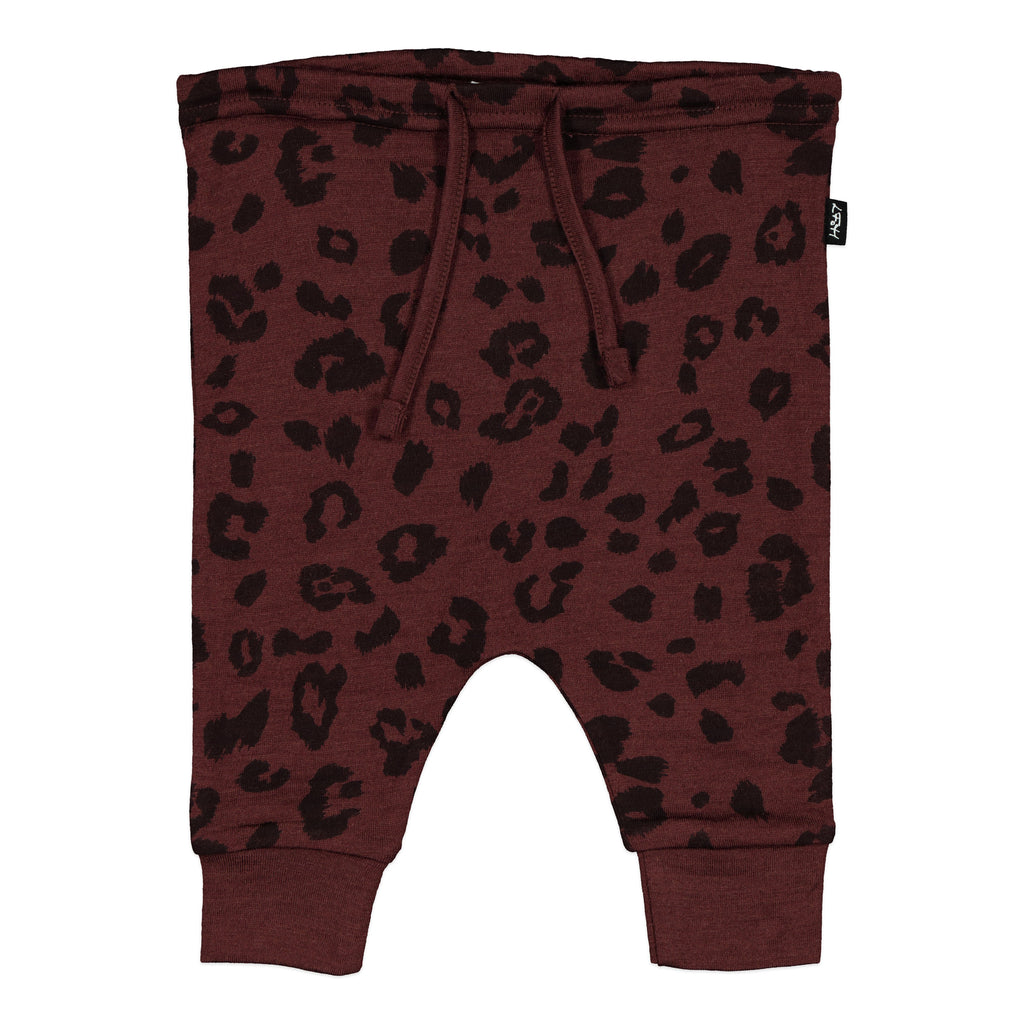 Asher Dropcrotch Pants - Mulberry Cheetah