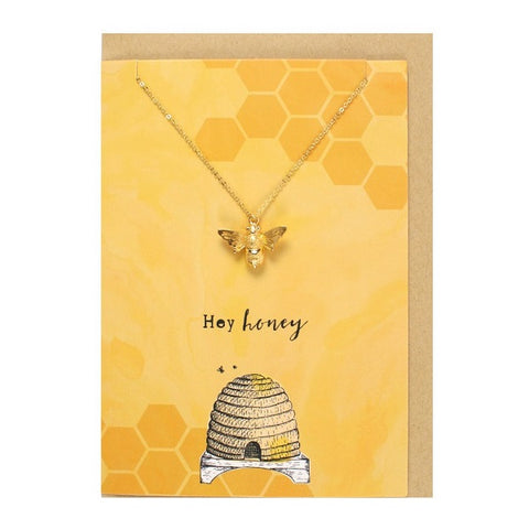 Hey Honey Necklace & Card