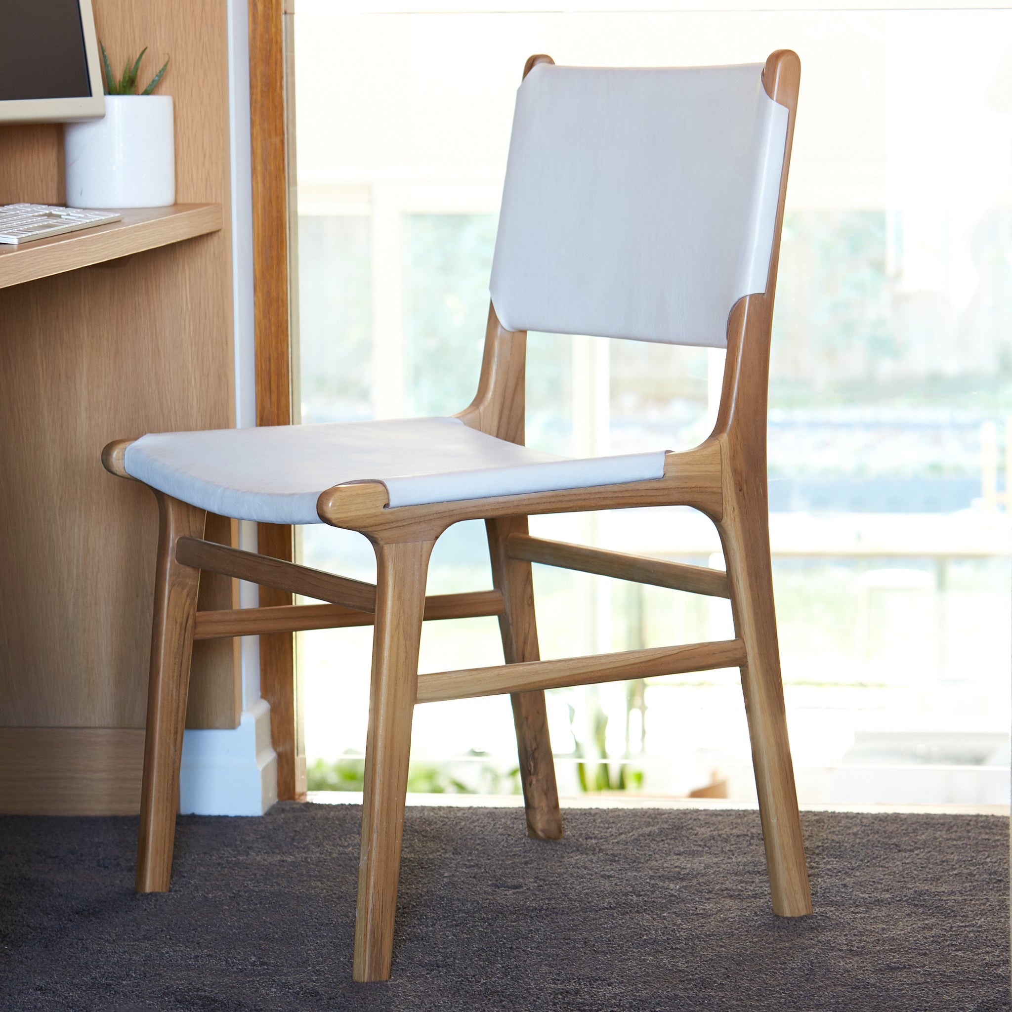 Olivia Dining Chair - Flat - WHITE