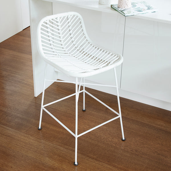 Regina Bar Stool -  WHITE