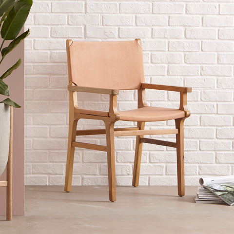 Sam Dining Arm Chair - Flat - SAND